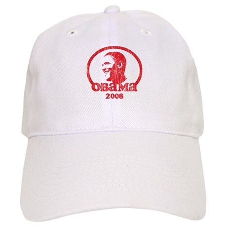 Barack Obama 2008 (Red Vintag Cap
