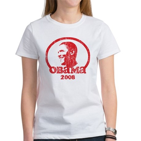 Barack Obama 2008 (Red Vintag Women's T-Shirt