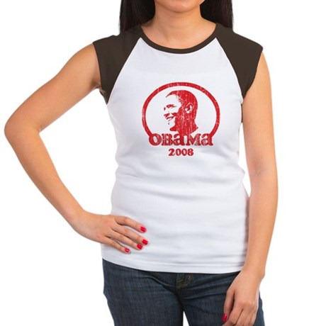 Barack Obama 2008 (Red Vintag Women's Cap Sleeve T