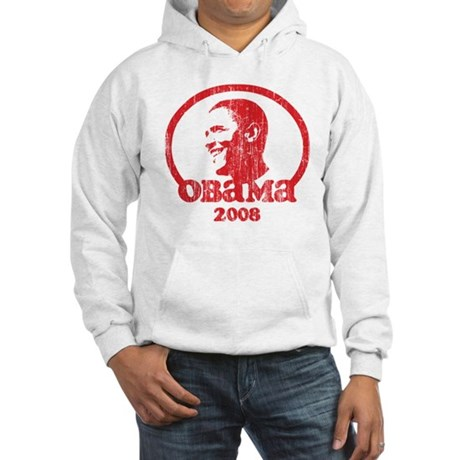 Barack Obama 2008 (Red Vintag Hooded Sweatshirt