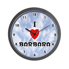 I Love Barbara (Black) Valentine Wall Clock