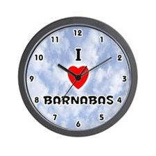 I Love Barnabas (Black) Valentine Wall Clock