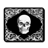 Black Elegant Skull Mousepad