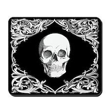 Black Elegant Skull Mousepad