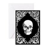 Black Elegant Skull Greeting Cards (Pk of 10)