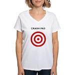 The Human Crash Pad - Women's V-Neck T-Shirt