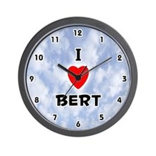 I Love Bert (Black) Valentine Wall Clock