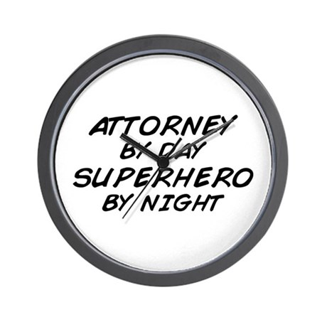 Attorney Superhero Wall Clock