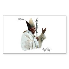 Il Papa - Pope John Paul II Rectangle Decal