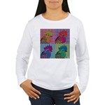 Roosters Gone Psycho Women's Long Sleeve T-Shirt
