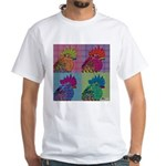 Roosters Gone Psycho White T-Shirt