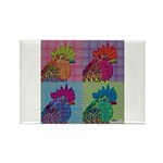 Roosters Gone Psycho Rectangle Magnet