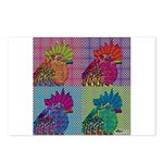 Roosters Gone Psycho Postcards (Package of 8)