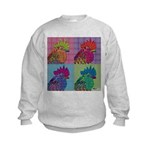 Roosters Gone Psycho Kids Sweatshirt
