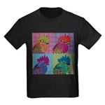 Roosters Gone Psycho Kids Dark T-Shirt