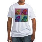 Roosters Gone Psycho Fitted T-Shirt