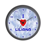 I Love Liliana (Blue) Valentine Wall Clock