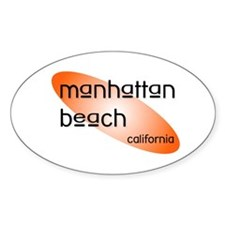 Manhattan Beach Oval Decal