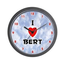 I Love Bert (Red/Blk) Valentine Wall Clock