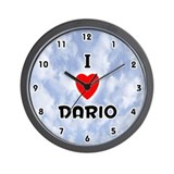 I Love Dario (Black) Valentine Wall Clock