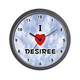 I Love Desiree (Black) Valentine Wall Clock