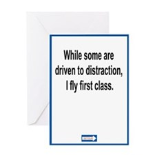 Driven to Distraction Greeting Card (Single)