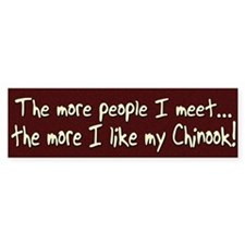 The More People Chinook Bumper Bumper Sticker