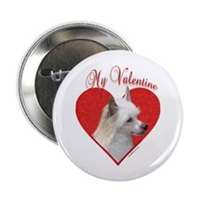 "Crested(powder) Valentine 2.25"" Button"