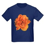 Coral Double Daylily Kids Dark T-Shirt