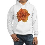 Coral Double Daylily Hooded Sweatshirt