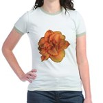 Coral Double Daylily Jr. Ringer T-Shirt
