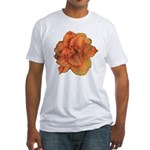 Coral Double Daylily Fitted T-Shirt