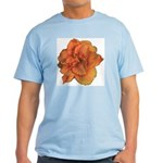 Coral Double Daylily Light T-Shirt