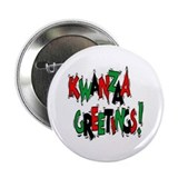 "Kwanzaa Greetings 2.25"" Button"