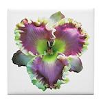Lavender w/ Gold Daylily Tile Coaster