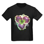 Lavender w/ Gold Daylily Kids Dark T-Shirt