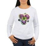 Lavender w/ Gold Daylily Women's Long Sleeve T-Shi