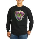 Lavender w/ Gold Daylily Long Sleeve Dark T-Shirt