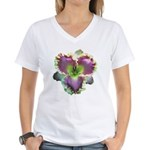 Lavender w/ Gold Daylily Women's V-Neck T-Shirt