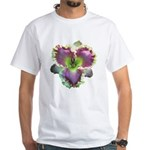 Lavender w/ Gold Daylily White T-Shirt