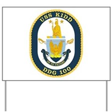 USS Kidd DDG 100Yard Sign