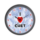 I Love Chet (Red/Blk) Valentine Wall Clock
