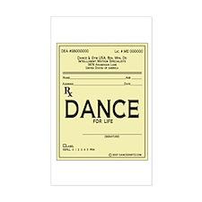 Prescription Dance Antique Rectangle Decal