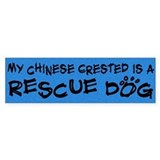 Rescue Dog Chinese Crested Bumper Bumper Sticker