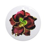 Dark Purple Daylily Ornament (Round)