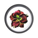 Dark Purple Daylily Wall Clock