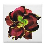 Dark Purple Daylily Tile Coaster