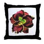 Dark Purple Daylily Throw Pillow