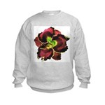 Dark Purple Daylily Kids Sweatshirt