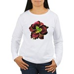 Dark Purple Daylily Women's Long Sleeve T-Shirt